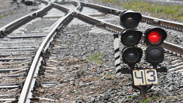 Железнодорожный светофор. Архивное фото