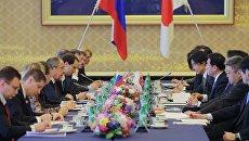Министр иностранных дел Японии Фумио Кисида и министр иностранных дел РФ Сергей Лавров во время встречи в Японии. 20 марта 2017