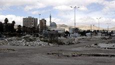 Последствия столкновений сирийской армии с боевиками в районе Джобар на востоке Дамаска. Архивное фото