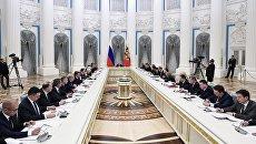 Президент РФ Владимир Путин проводит заседание Совета по стратегическому развитию и приоритетным проектам. 21 марта 2017