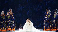 Певица Юлия Самойлова во время выступления на церемонии открытия XI зимних Паралимпийских игр в Сочи. Архивное фото
