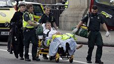 Пострадавший у здания парламента в Лондоне