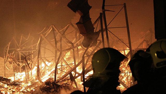В Харьковской области назвали причину пожара на складах с боеприпасами