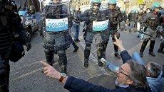 Противники Евросоюза устроили манифестацию в Риме в день 60-летия союза