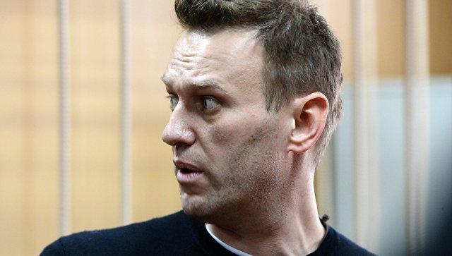 Политик Алексей Навальный на заседании Тверского районного суда города Москвы. 27 марта 2017