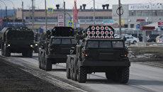 Военная техника во время репетиции парада Победы в Екатеринбурге. Архивное фото