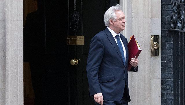 Министр по вопросам выхода из ЕС Дэвид Дэвис. Архивное фото