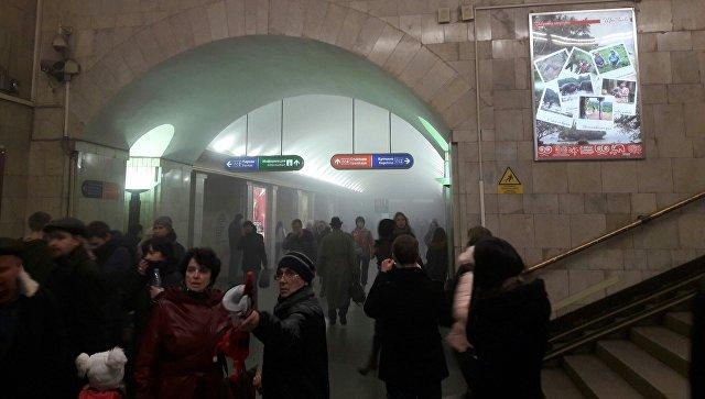Задымление в петербургском метро. 3 апреля 2017
