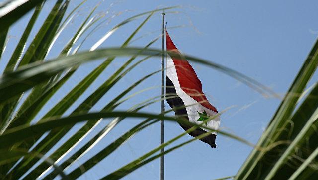 Флаг САР на улице Дамаска. Архивное фото