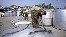 Авиабаза для ликвидации и демонтажа российских вооружений Военно-Воздушных Сил по договору о сокращении стратегических наступательных вооружений. Архивное фото