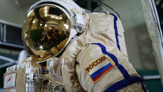 Российский скафандр для работы в открытом космосе Орлан МК. Архивное фото