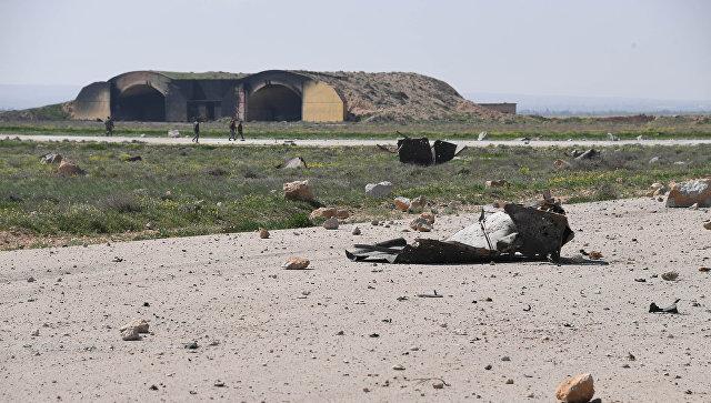 Наавиабазе вХомс США уничтожили до20 самолётов ВВС Сирии