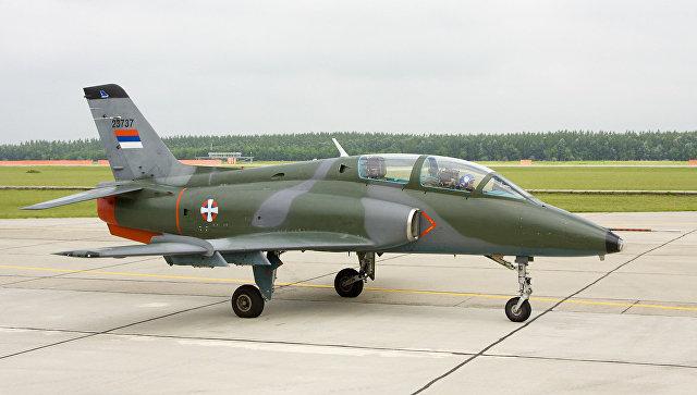 Учебно-боевой самолет Soko G-4 Super Galeb ВВС Сербии. Архивное фото