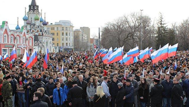 Митинг в Саратове в память о жертвах теракта в петербургском метро