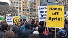 Руки прочь от Сирии – в США прошли протесты против авиаудара по базе Шайрат