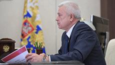 Президент ПАО Лукойл Вагит Алекперов во время встречи с президентом РФ Владимиром Путиным. 13 апреля 2017
