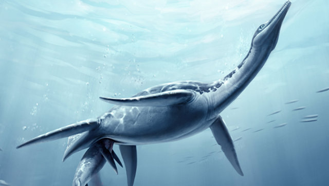 Рождение детеныша плезиозавра – реконструкция