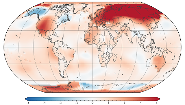 НАСА: Март текущего 2017-ого стал вторым самым жарким завсе время наблюдений
