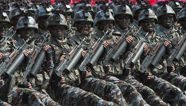Военнослужащие специальных тактических войск КНДР. Архивное фото