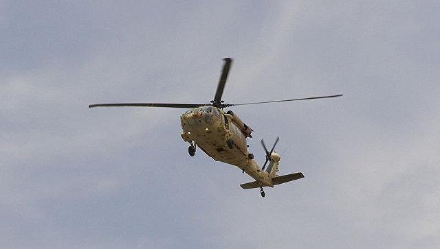 Появились первые фото сместа крушения военного вертолета вСША
