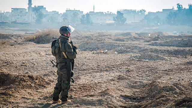 Российский военнослужащий в Сирии. Архивное фото