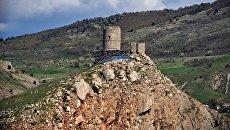Генуэзская крепость Чембало на территории Балаклавы
