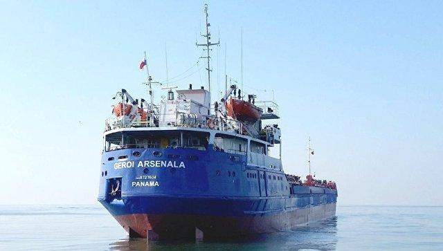 У Керченской переправы затонул сухогруз, идет спасательная операция