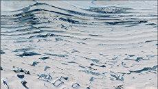 Озера и реки в Антарктиде, съемка со спутника НАСА