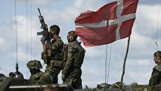 Датские солдаты во время военных учений на военной базе в Литве