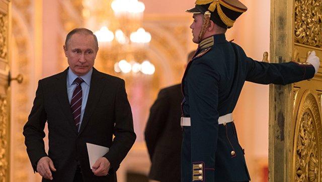 Президент РФ Владимир Путин на заседании Российского организационного комитета Победа. 20 апреля 2017