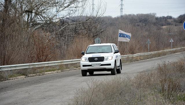 Автомобиль ОБСЕ в ЛНР. Архивное фото