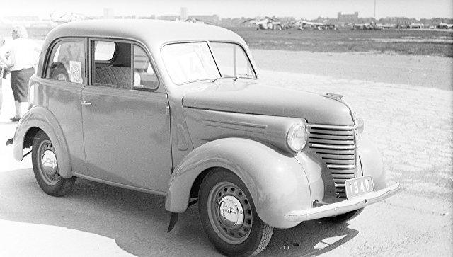 Первый советский серийный малолитражный автомобиль КИМ-10. Архивное фото