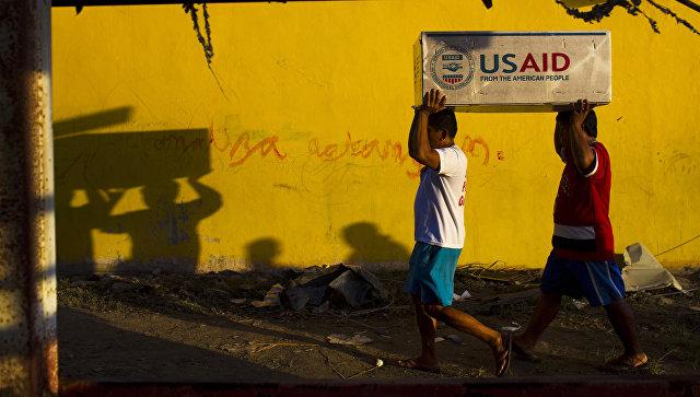 Доставка гуманитарного груза от агентства по международному развитию USAID. Архивное фото