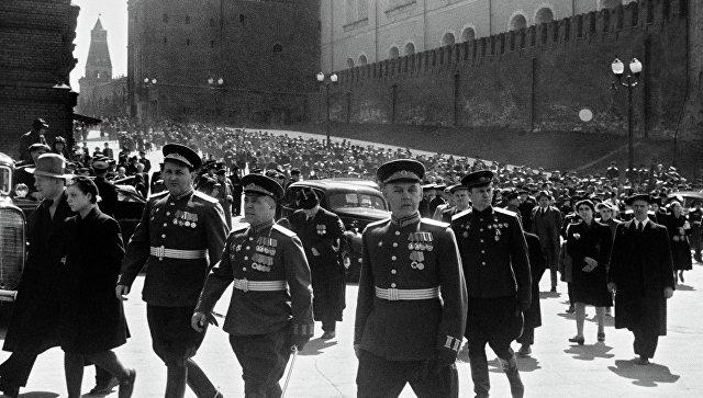 День Победы в Великой Отечественной войне годов РИА  Архив Москва Красная площадь 9 мая 1945 года Архив