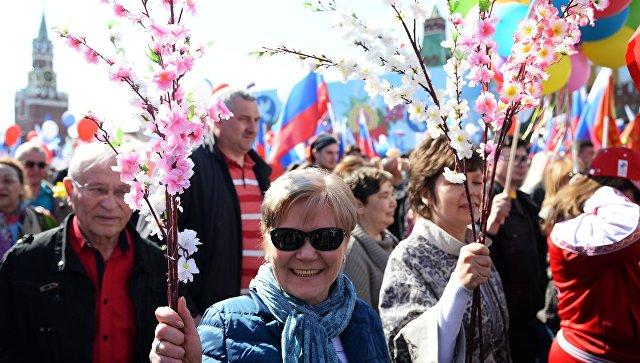 Первомайская демонстрация на Красной площади. Архивное фото