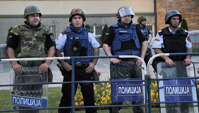 Полицейские в Скопье. Архивное фото