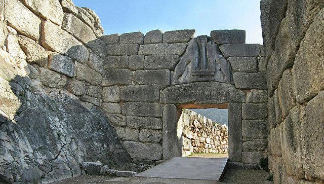Руины города Микены в Греции