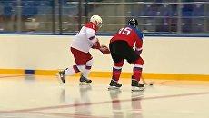 Путин провел хоккейную тренировку в Сочи