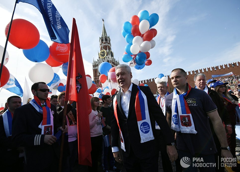 Собянин поздравил жителей столицы сПраздником весны итруда
