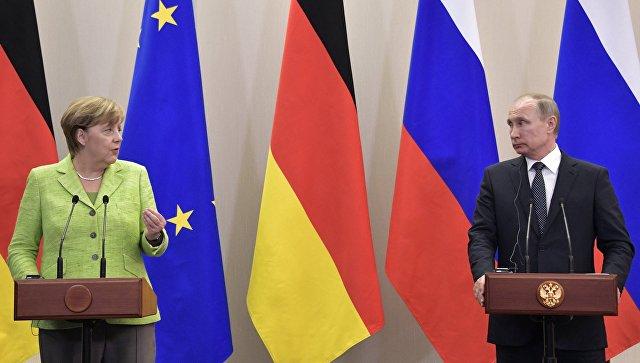 Меркель прибыла вСочи напереговоры сПутиным