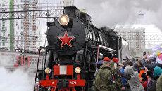 Эшелоны Армия Победыс техникой военных лет прибыли в Екатеринбург
