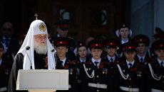 Парад московских кадетов на Поклонной горе