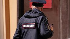 Сотрудник полиции на улице Москвы. Архивное фото
