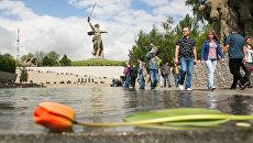 На Мамаевом кургане в День Победы открылась Аллея России