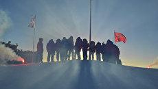 Российские полярники в Арктике. Архивное фото