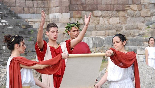 Принятие Клятвы Гиппократа на греческом острове Кос