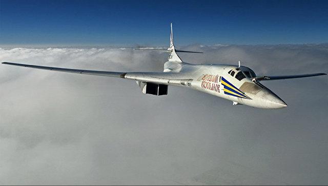 Cтратегический бомбардировщик-ракетоносец Ту-160. Архивное фото