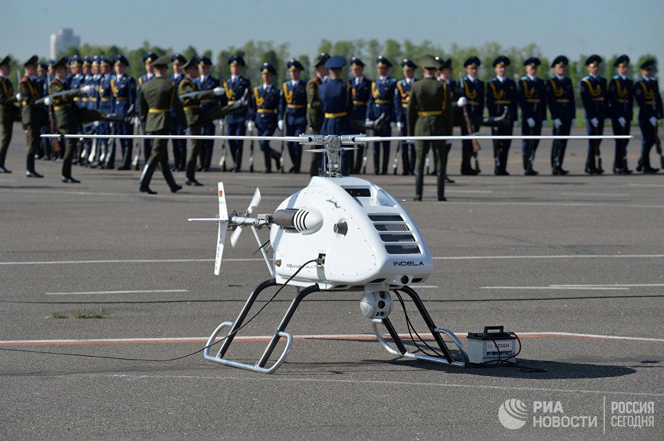 Беспилотный летательный аппарат вертолетного типа Indela-I.N. Sky на 8-й Международной выставке вооружения и военной техники Milex-2017 в Минске