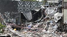 Снос здания ночного клуба Reina, где в новогоднюю ночь произошел теракт. 22 мая 2017