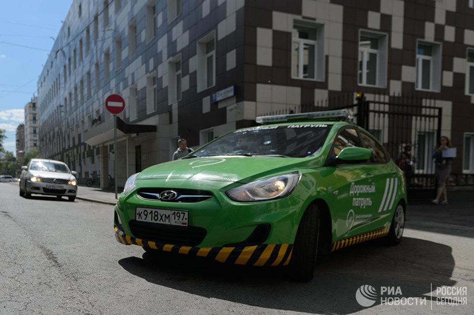 Автомобиль новой службы ЦОДД Дорожный патруль